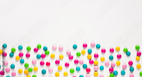 Keuken foto achterwand Snoepjes Background of multicolored sweet candy dragees