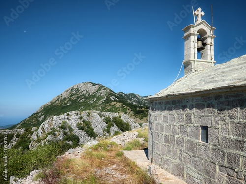 Photo  Church St. Elijah on the Orjen Mountain Range, Montenegro