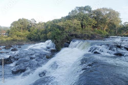 Printed kitchen splashbacks River Laos Wildnis