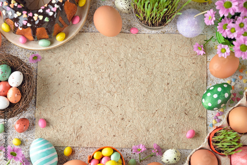 Photo  Easter sweets and decorations