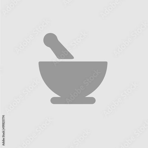 Cuadros en Lienzo Bowl mortar vector icon eps 10. Simple isolated pictogram.