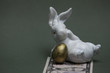banknote rabbit with golden egg concept of investment income, retirement savings