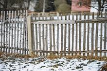 Defekter, Morscher Alter Holzlatten Gartenzaun