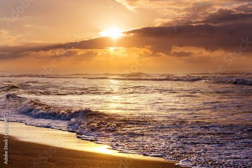 Staande foto Oceanië Sea sunset