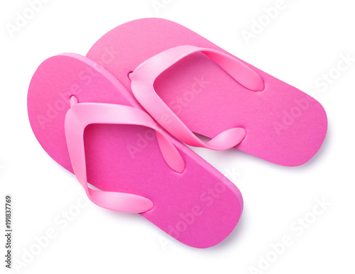 5df3850c27dd Summer Flip Flops Isolated on White Background - Buy this stock ...
