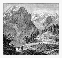 Panoramic View Of Mountain Rou...