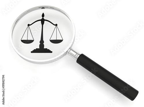 Cuadros en Lienzo justice loupe balance