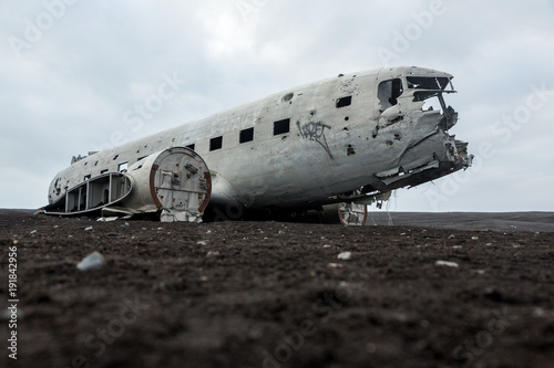 Photo  Abonded Airplane DC wreck in Iceland solheimasandur