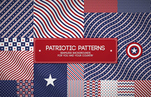 Set Of Patriotic American Patt...