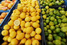 Fresh Citrus Fruits At Farm Ma...