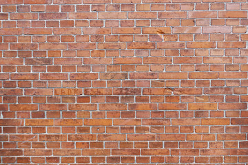 Empty background of a red brick wall