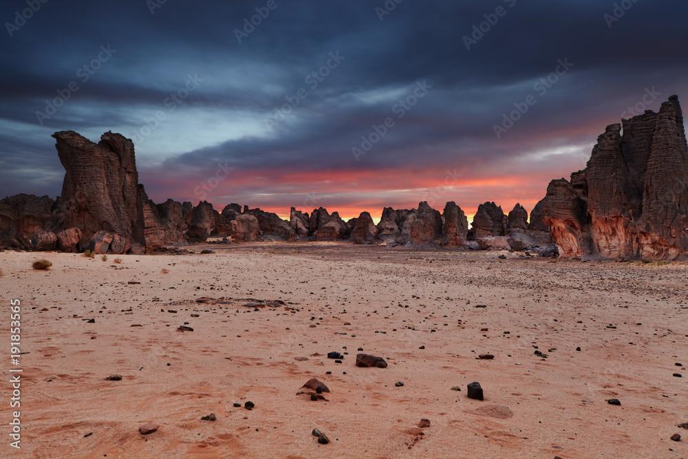 Fototapety, obrazy: Sahara Desert, Tassili N'Ajjer, Algeria