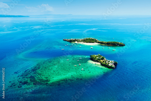 Deurstickers Luchtfoto aerial view of magic and crocodile islands, Phillippines