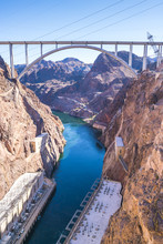 Hoover Dam On Sunny Day,Nevada...