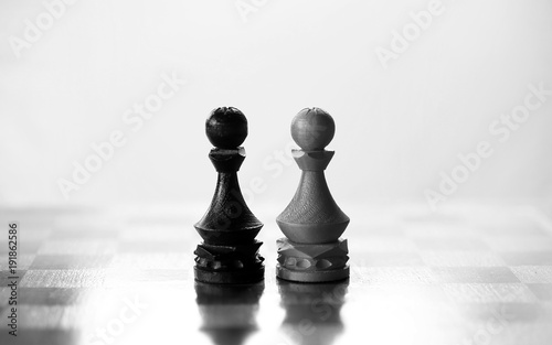 chess piece pawn on board