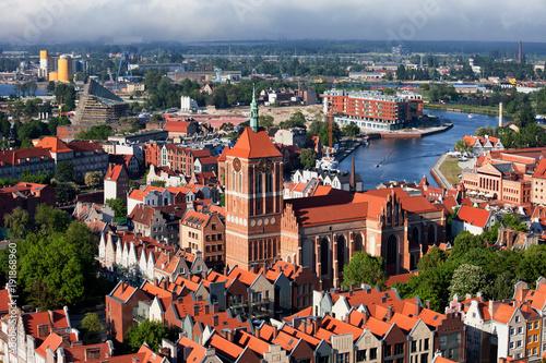 Obraz Widok Na Miasto Gdańsk W Polsce - fototapety do salonu