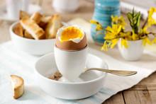 Breakfast From Soft-boiled Egg...