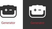 Petrol Electric Generator Icon