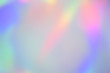 canvas print picture - Blurry abstract pastel holographic foil background