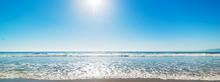 Sun Shining Over Santa Monica Beach On A Clear Day