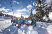 Happy Snowshoe Walker In Powde...