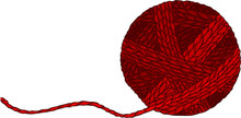 Red Wool Ball For Yarn