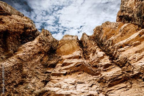 Plakat kanion w dolinie śmierci
