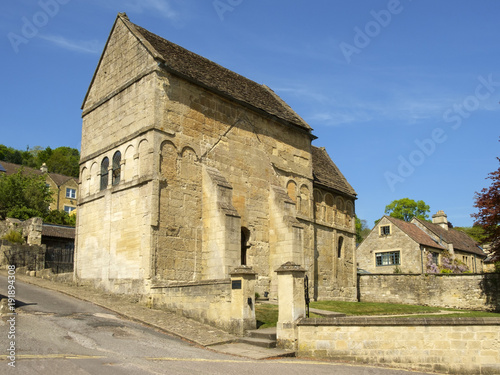 Historic Anglo-Saxon church, St Laurence's,  Bradford-on-Avon, Wiltshire, UK Wallpaper Mural