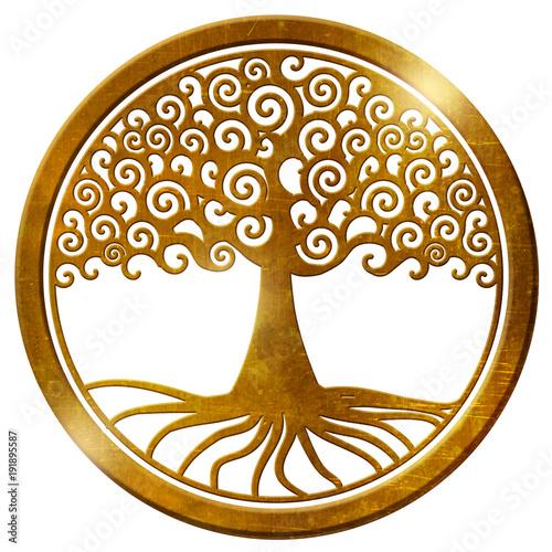 Weltenbaum gold