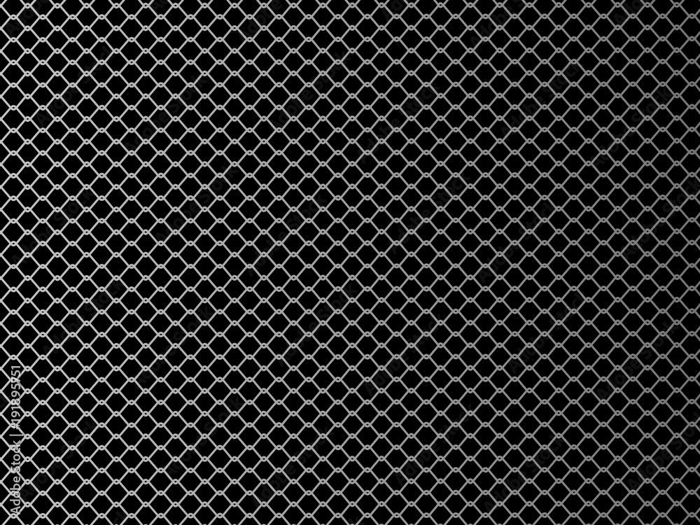 Fototapeta Wire mesh. Vector illustration on black background.