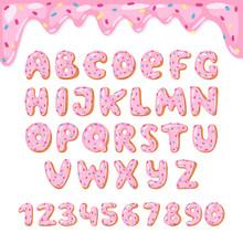 Alphabet Donut Vector Kids Alp...