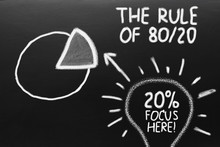 The Rule Of 80/20. Graph Of Pa...