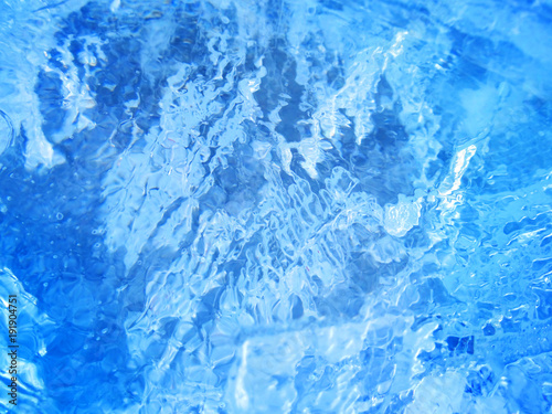 Stickers pour porte Eau Colorful ice. Abstract ice texture.