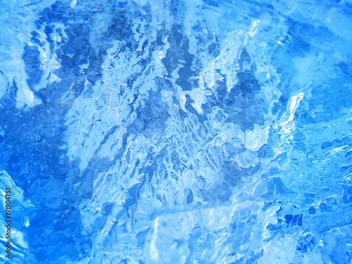 Foto auf Gartenposter Wasser Colorful ice. Abstract ice texture.