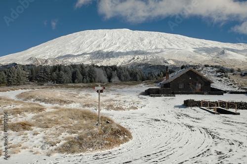 Fényképezés  Winter Etna Mount, Sicily