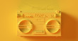 canvas print picture - Yellow Boombox 3d illustration