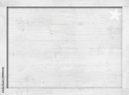 Türaufkleber Holz Side of white painted wooden crate, box, frame for text, message or picture