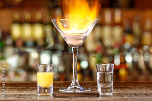 Foto op Plexiglas Bar Coco loko on the bar