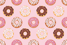 Seamless Pattern With Glazed D...