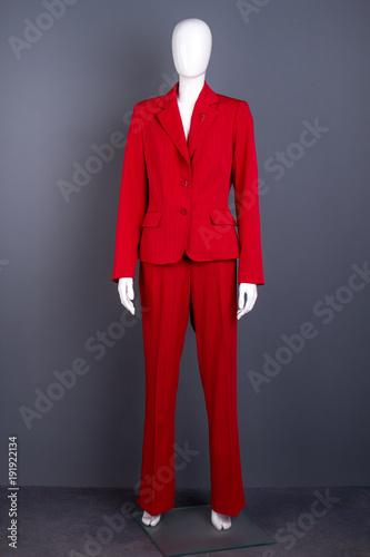 Mannequin in female red elegant suit Canvas Print