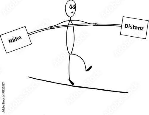 Balance zwischen Nähe und Distanz Stock Vector | Adobe Stock