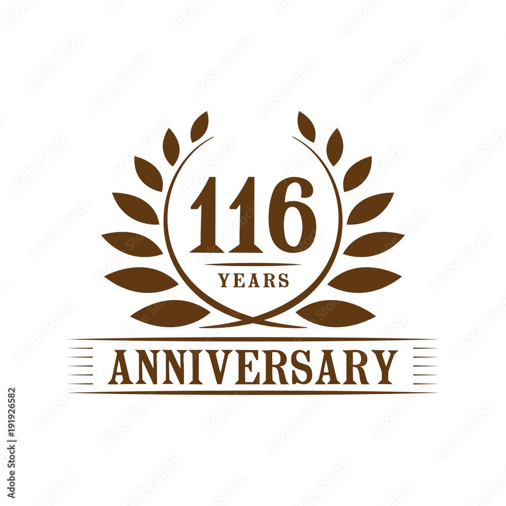 116 Years Anniversary Logo Template Foto Poster Wandbilder Bei
