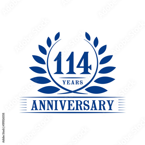 Poster  114 years anniversary logo template.