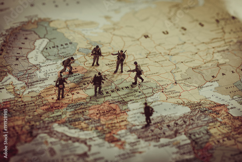 Ukraine, Russia and eurounion countries military conflict Wallpaper Mural
