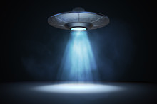 Light Beam From Flying UFO (al...