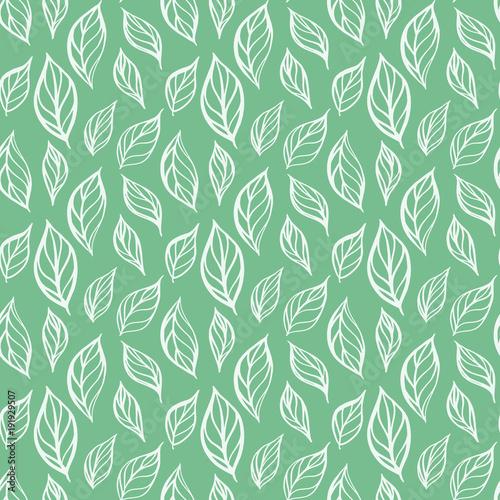 Tapety Kwiaty recznie-rysowane-lisc-wzor-liscie-herbaty