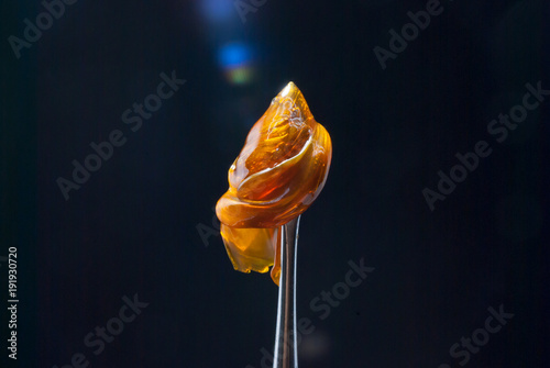 Fotografie, Obraz  Cannabis Concentrate - Strain: Cake Sap
