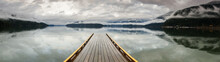 Wooden Dock On Harrison Lake, ...