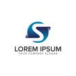 letter S modern 3D logo design concept template. fully editable vector