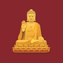 Nanshan Buddha Statue. Vector ...